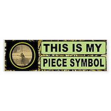 Piece Symbol Bumper Bumper Sticker
