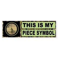 Piece Symbol Bumper Car Sticker