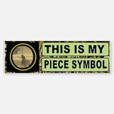 Piece Symbol Bumper Sticker (Bumper)