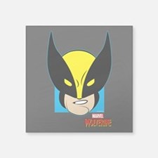"Wolverine Square Sticker 3"" x 3"""