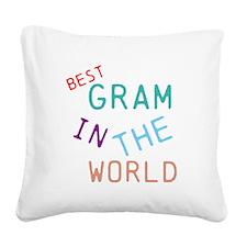 Gram Square Canvas Pillow