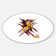 Wolverine Scratches Sticker (Oval)