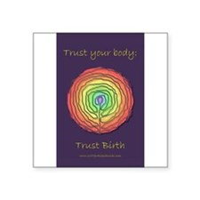 Trust Birth Labyrinth Rectangle Sticker
