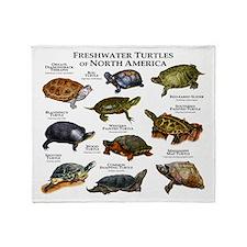 Freshwater Turtle of North America Throw Blanket