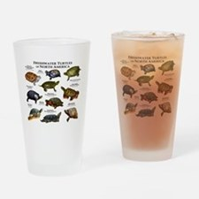 Freshwater Turtle of North America Drinking Glass