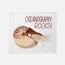 Oceanography Rocks! Throw Blanket