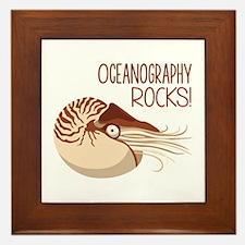 Oceanography Rocks! Framed Tile
