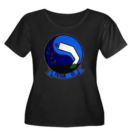 VP 69 To Women's Plus Size Scoop Neck Dark T-Shirt