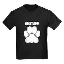 AmStaff Distressed Paw Print T-Shirt