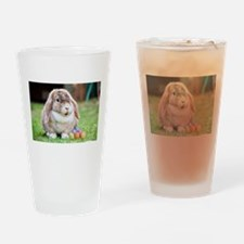 Easter Bunny Rabbit Drinking Glass