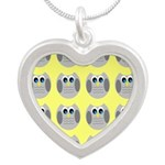OWLSHOWERCURTAINTILEDYELLOW Necklaces