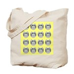 OWLSHOWERCURTAINTILEDYELLOW Tote Bag