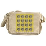 OWLSHOWERCURTAINTILEDYELLOW Messenger Bag