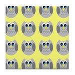 OWLSHOWERCURTAINTILEDYELLOW Tile Coaster