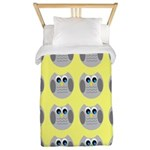 OWLSHOWERCURTAINTILEDYELLOW Twin Duvet
