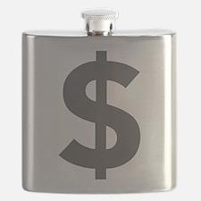 $ Dollar Sign Dark Gray Flask