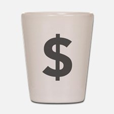 $ Dollar Sign Dark Gray Shot Glass