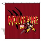 Wolverine Slash Shower Curtain