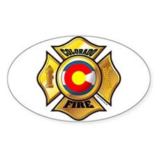 Colorado Fire Oval Decal