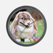 Easter Bunny Rabbit Wall Clock