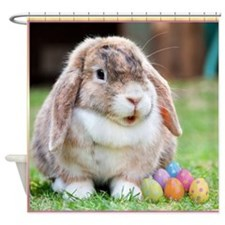 Easter Bunny Rabbit Shower Curtain