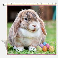 Easter Bunny Rabbit Shower Curtain