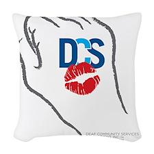 DCS KissFist Woven Throw Pillow