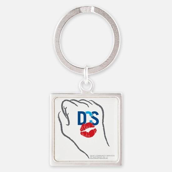 DCS KissFist Square Keychain