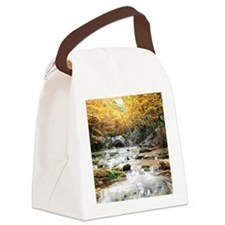 Autumn Stream Canvas Lunch Bag