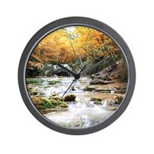 Autumn Stream Wall Clock