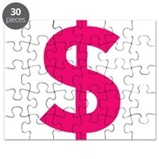 $ Dollar Sign Pink Puzzle