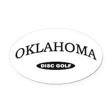 Oklahoma Disc Golf Oval Car Magnet