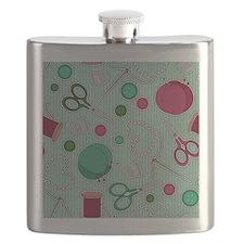 Cute Needles Flask