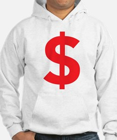 $ Dollar Sign Red Hoodie