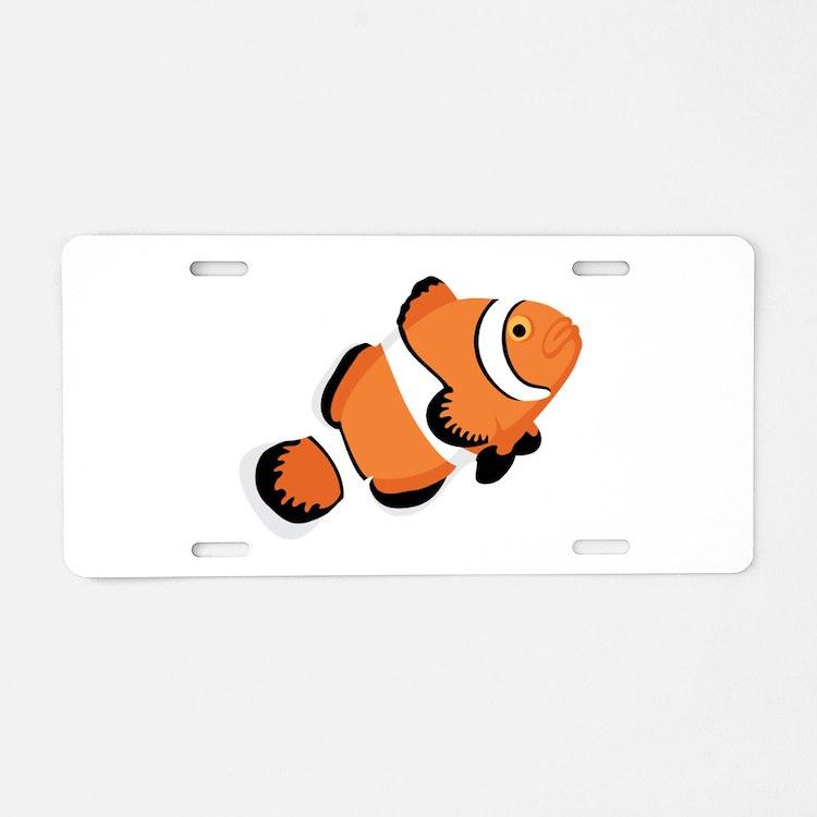 Clown Fish Aluminum License Plate