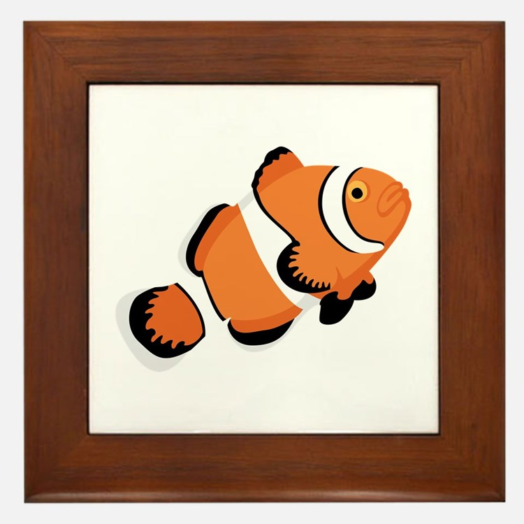 Clown Fish Framed Tile