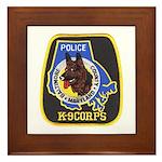 Baltimore Police K-9 Framed Tile