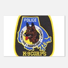 Baltimore Police K-9 Postcards (Package of 8)