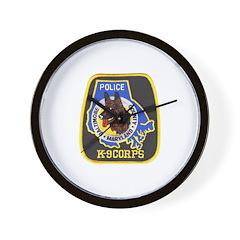 Baltimore Police K-9 Wall Clock