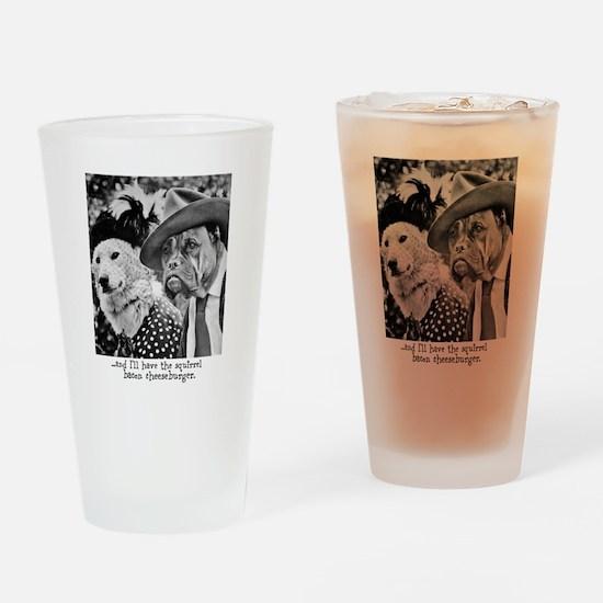 Aristocrat Dogs Drinking Glass