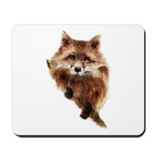 Cute Watercolor Red Fox Animal Mousepad