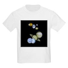 Solar System Kids Baseball Jersey T-Shirt