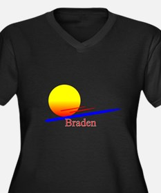 Braden Women's Plus Size V-Neck Dark T-Shirt