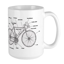 Bicycle Anatomy Mugs