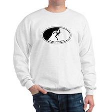 Just Climb On Classic Oval Sweatshirt
