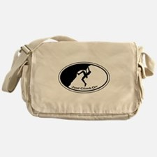 Just Climb On Classic Oval Messenger Bag