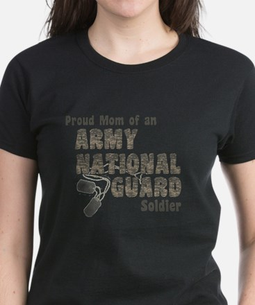 National Guard Mom (tags) T-Shirt