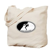 Just Climb On Classic Oval Tote Bag
