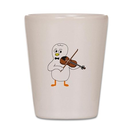 Violinist Shot Glass