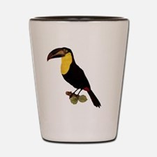 Toucan on Transparent Background Shot Glass
